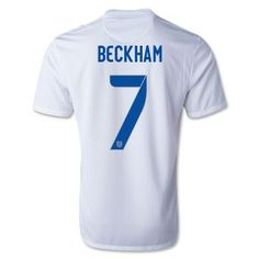 Beckham 2014 World Cup Home Soccer Jerseys England Football