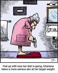 Funny weight loss cartoon. ---------- http://www.easy-fat-loss-diet.info