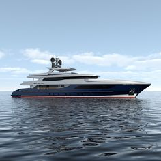 Rendering of the 46m Baglietto superyacht designed by Francesco Paszkowski