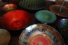 Decorating with gorgeous (and budget-friendly!!!) handmade Turkish glass dishes. They are like jewelry for the dining table!
