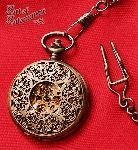Patina Steampunk Filigree Pocket Watch -- $30.00
