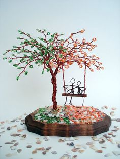 Double Blossom Tree - Wedding Cake Topper, Anniversary, Engagement, Bridal Shower,  Centerpiece on Etsy, $69.00