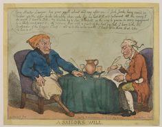 A Sailor's Will.  ca. 1805