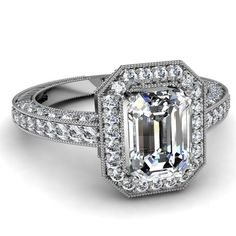 1.50 Ct Emerald Cut Diamond Halo Lavish Engagement Ring Pave Set FLAWLESS GIA 14K Fascinating Diamonds,http://www.amazon.com/dp/B00BS5SNT6/ref=cm_sw_r_pi_dp_Fz.Trb5F64A14790