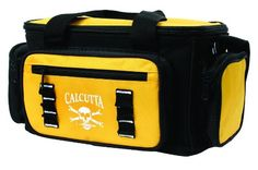 Calcutta Black and Yellow 3 Zip Tackle Bag with 4 Utility Boxes - http://bassfishingmaniacs.com/?product=calcutta-black-and-yellow-3-zip-tackle-bag-with-4-utility-boxes