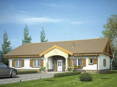 projekt Bogna WRX1052 Home Fashion, Cabin, Mansions, House Styles, Home Decor, Projects, Decoration Home, Manor Houses, Room Decor