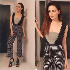 Hair And Beauty Salon Fashion Wear, Girl Fashion, Fashion Outfits, Sana Khan, Fashion Updates, Fashion Trends, Hair And Beauty Salon, Beautiful Bollywood Actress, Casual Hairstyles