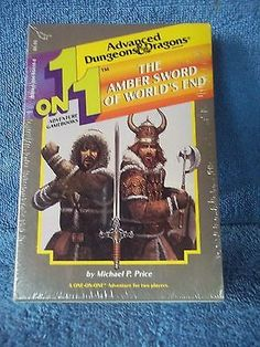 Dungeons & Dragons AMBER SWORD of WORLDS END 2  Book Module 1 on 1  SEALED FS