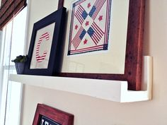 DIY Gallery ledges.  They take less than five minutes to make!