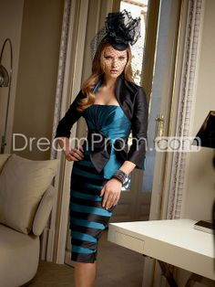US $186.59 Free Shipping Sexy Bowknot Pleats Sheath/Column Strapless Knee-Length Mother of the Bride Dresses