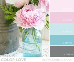 Color Love | Light Pinks & Blues - DesignerBlogs.com