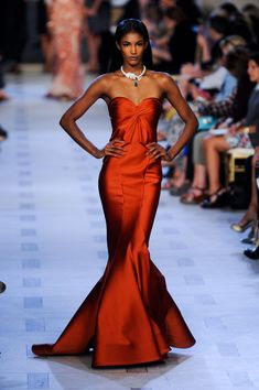 POWER ORANGE TREND FOR FALL 2013 | Zac Posen Spring 2013 Show Report: Gorgeous Gowns + Lourdes Ciccone ...