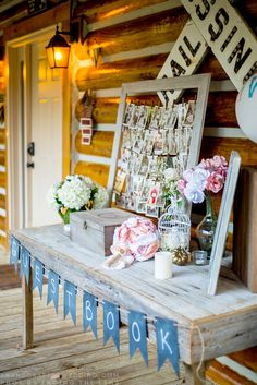 Planning an intimate wedding? Check out this rustic and romantic handcrafted wedding that took place at a cabin in the NC mountains. ahandcraftedwedding.com