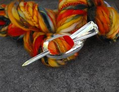 Spoon Shawl Pin, 1912 Cromwell Silver Plate Spoon, Vintage Flatware, Spoon…