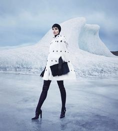 warm up to fall's new coats: meghan collison by nathaniel goldberg for us harper's bazaar november 2013