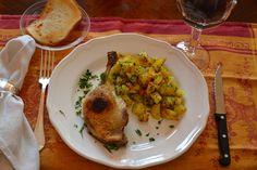 Pato confitado con patatas sarladaises