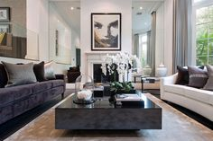 Mirrors make the living room appear spacious just like these spaces in the list.