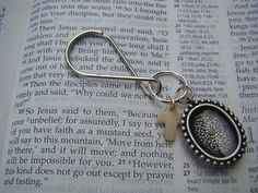 Father's Day Gift - Mustard Seed Keychain  Faith of a Mustard Seed Key by MinsBoutique, $15.00