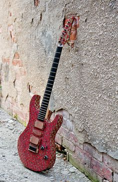 Recycled Skateboard Guitar