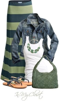 I don't know if I could pull it off... but this is a really cute outfit. =)