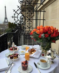 Morning coffee in Paris.