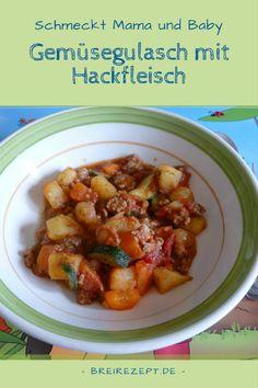 Gemüse-Gulasch ist eine leckere Hauptmahlzeit, die ihr als Mittagessen für Mama und Kind kochen könnt. Dieser grobe Eintopf eignet sich auch schon für das Baby und ist perfekt im Rahmen von Babyledweaning (BLW) als Fingerfood und später um das Essen mit Besteck zu lernen. Hier geht es zum Kinderrezept: http://www.breirezept.de/rezept_gemuesegulasch_fuer_mama_und_kind.html