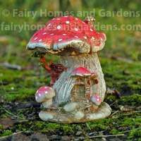 Miniature Red Capped Mushroom Fairy House
