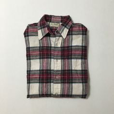 Vtg L.L. Bean plaid flannel shirt made in USA by DeepEastTrading