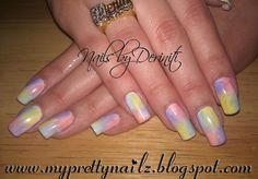 My Pretty Nailz: 4 Color Instant Ombre Sponge Gradient Nail Art Design and Video Tutorial