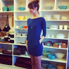 Sundry Spring 2013 Slub Pocket Dress in Navy. So soft and perfect with bare legs or your favourite skinnies!