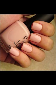 simple light pink nails