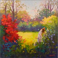 Image result for paintings of gardens