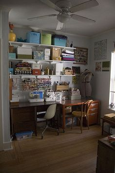ways to ensure your craft room isn't a DIY vomitorium.' (via Offbeat Home & Life) Sewing Room Storage, Craft Room Storage, Sewing Rooms, Craft Organization, Craft Rooms, Organizing Ideas, Organising, Storage Ideas, Space Crafts