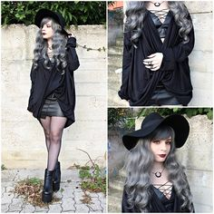 Get this look: http://lb.nu/look/7940730  More looks by Federica D: http://lb.nu/vanillasyndrome  Items in this look:  Dresslink Black Cardigan, Dresslink Fake Leather Bra   #edgy #gothic #grunge