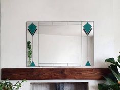 Art Deco Mirror, Led Mirror, Mirror Brackets, Stained Glass Mirror, Mantel Mirrors, Beautiful Mirrors, Lounge Decor, Star Art, Art Deco Diamond
