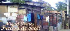 Mesmo com um nome muito conhecido em Pernambuco (e no Brasil), a vila Miguel Arraes vive uma realidade bem diferente do que vivia ex-governador: total abandono.