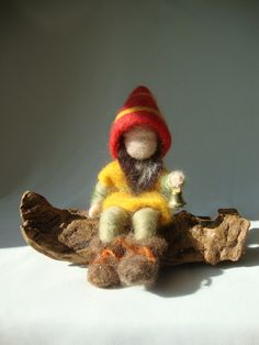 Waldorf needle felted gnome natural toy nature by madamecraig, £22.50