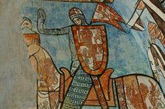 Monasterio de San Bernardo de Valbuena. Valladolid. España. Fragmento de las pinturas conservadas.