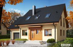 пристроенный гараж Projekty domów ARCHIPELAG - E3 G1 ECONOMIC (wersja A)