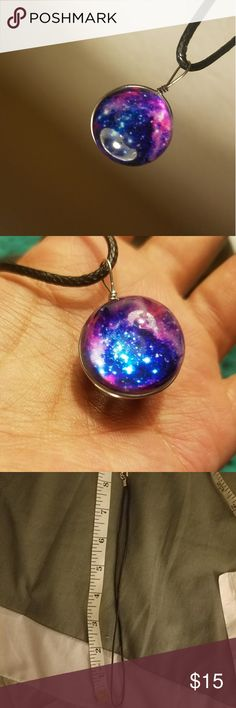 Beautiful Galaxy Necklace 🌙 Have the galaxy at your neck and feel like the center of the universe with this cute necklace   Tags: nebula, solar flare, solar system, nasa, universe, galaxy, witchy, interstellar, space, cosmic, nature, time, tumblr, instagram, aesthetic Make an offer :) BUY ONE GET ONE HALF OFF WITH THE OTHER MATCHING GALAXY NECKLACE  BRAND FOR TRAFFIC Urban Outfitters Jewelry Necklaces