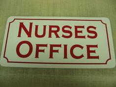 Nurses Office Vintage Style Metal Sign 4 Hospital Building Home RN Practice | eBay  make my own signs