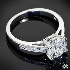 Rounded Open Cathedral Diamond Engagement Ring with 1.507ct A CUT ABOVE