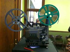 Watching filmstrips on one of these