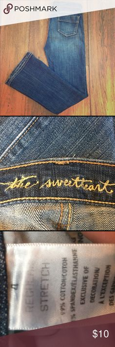 Gap jeans Cute Sweetheart jeans from The Gap. Figure flattering with tiny flair at bottom. GAP Jeans Flare & Wide Leg
