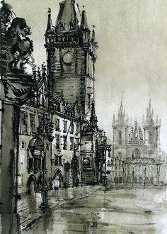 Prague on Behance