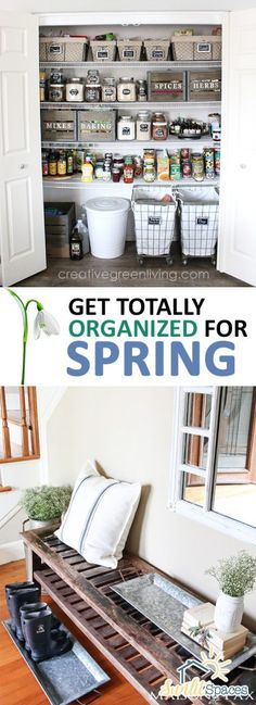 Get Totally Organized for Spring| Organize, Spring Organizing Ideas, Spring Organization, Organization, Organization Ideas for the Home, Spring Organization, Spring Organization DIY #SpringOrganizationDIY #SpringOrganization #Organization #OrganizationIdeasfortheHome