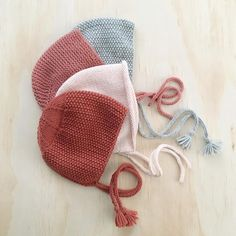 Shop hand-knit baby bonnets at littlepineoutfitters.com