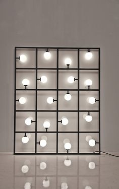 Squares is a sculptural lighting design by London-based studio Atelier Areti.  It leans against the wall but cane attached or suspended either vertically or horizontally.