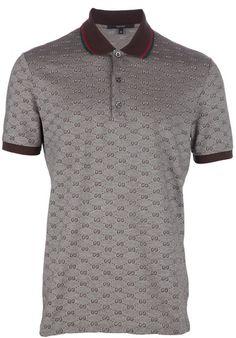 e43b6c17b1b2 GUCCI Striped Collar Polo T-Shirt.  gucci  cloth     Gucci Men ...
