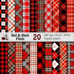 Check out this item in my Etsy shop https://www.etsy.com/listing/264372296/black-and-red-plaids-digital-paper-set